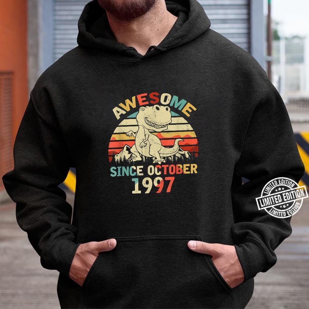 Awesome Since OCTOBER 1997 23rd Dinosaur Birthday Boys Kid Shirt hoodie