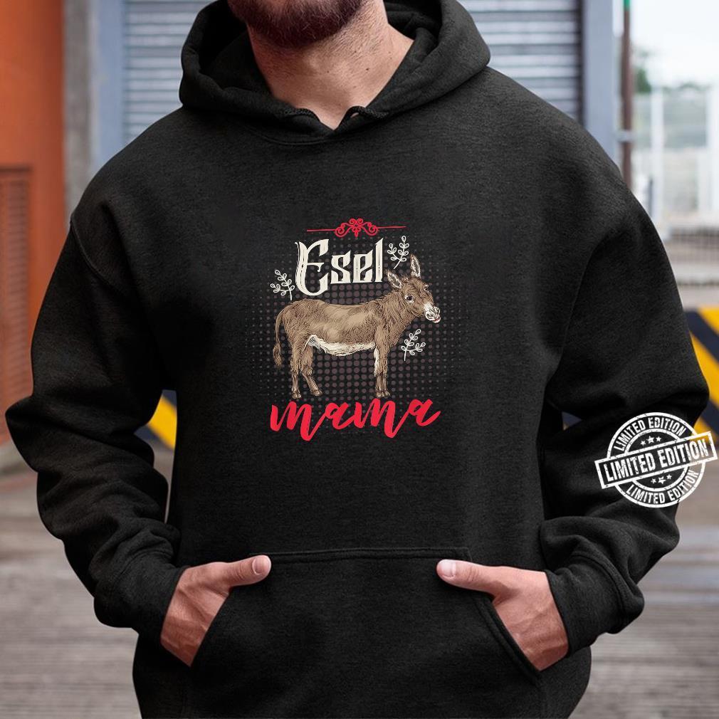 Bauernhof Tiermotiv Geschenk zum Muttertag Mama Esel Shirt hoodie