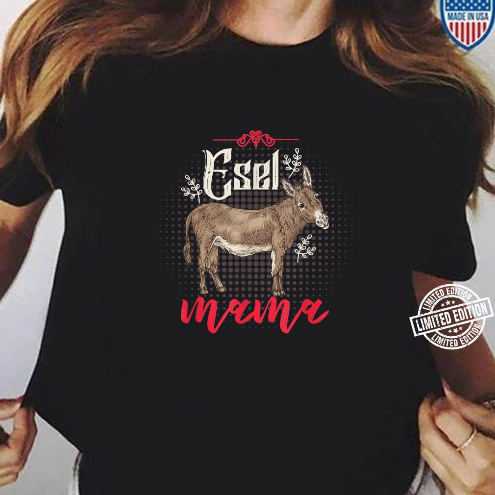 Bauernhof Tiermotiv Geschenk zum Muttertag Mama Esel Shirt ladies tee
