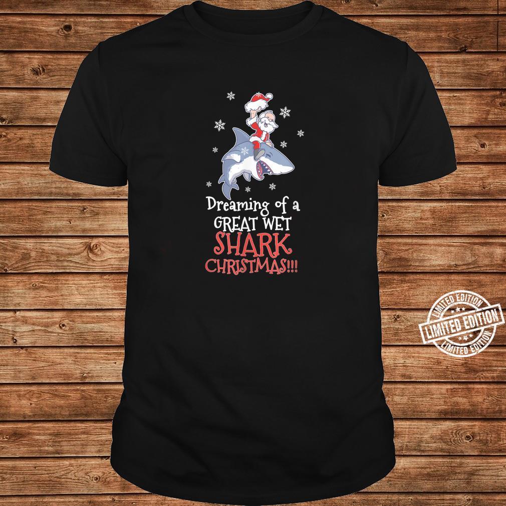 Dreaming Shark Christmas Santa Clause Fish Ocean Animal Kid Shirt long sleeved