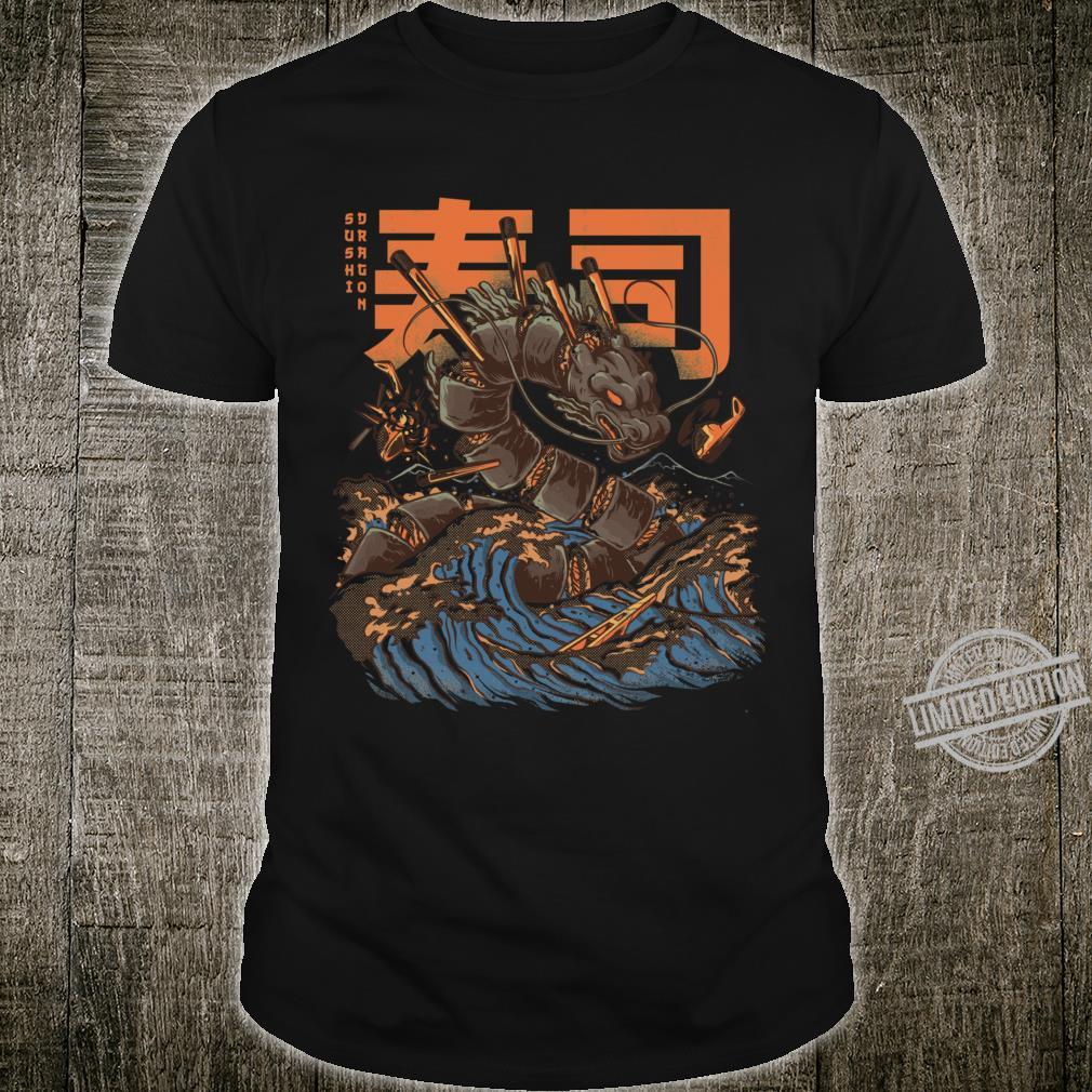 Great Sushi Dragon Fitted Scoop Shirt