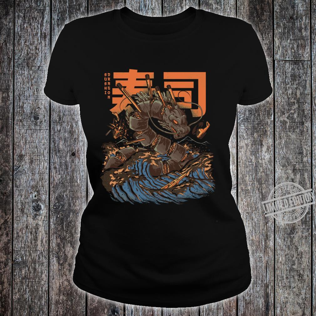 Great Sushi Dragon Fitted Scoop Shirt ladies tee
