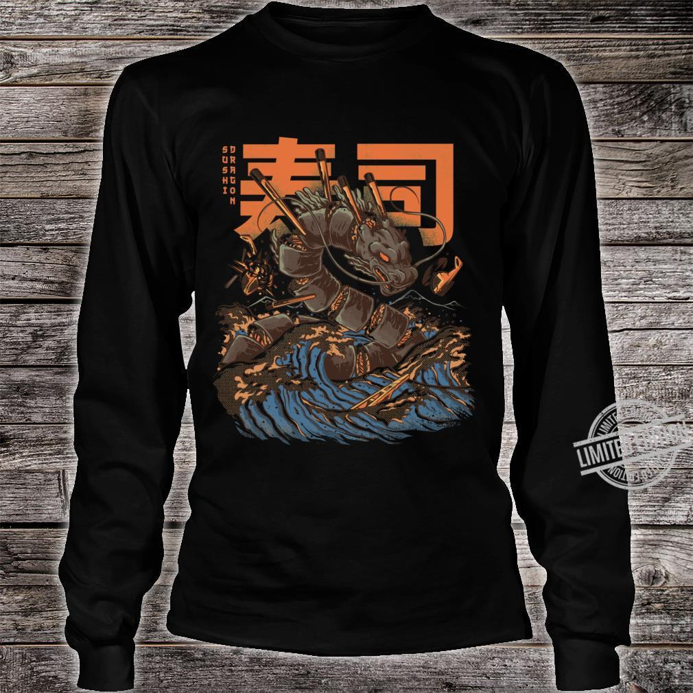 Great Sushi Dragon Fitted Scoop Shirt long sleeved