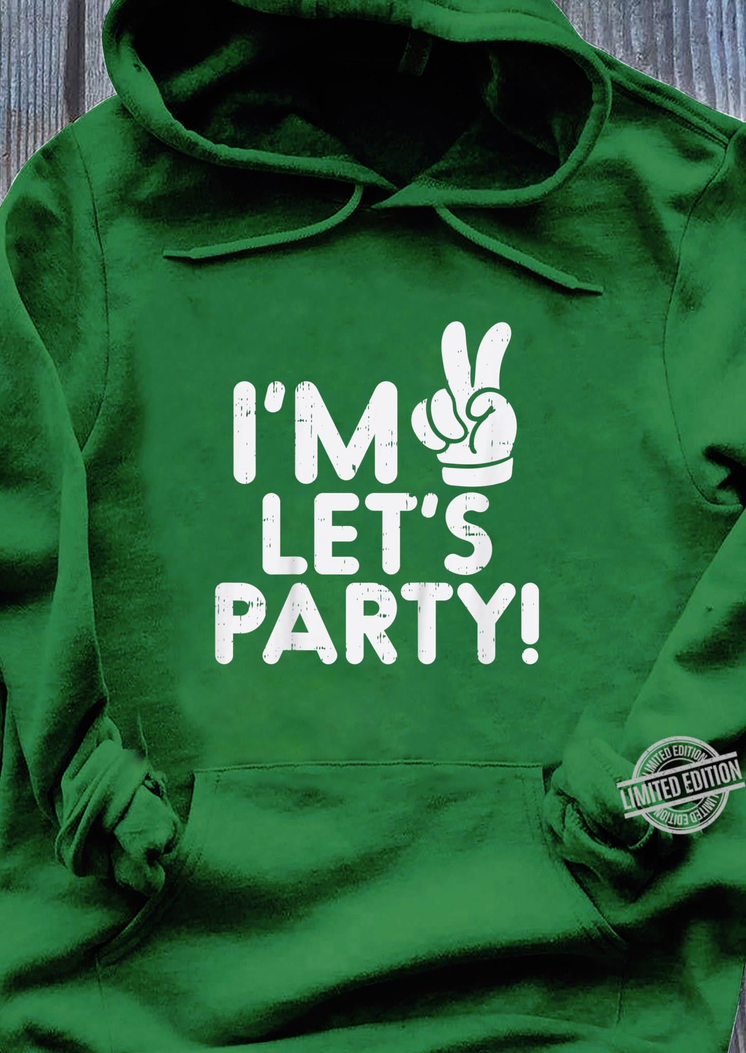 Kinder Im 2 Lets Party Second 2nd Birthday Party Boys Girls Shirt hoodie