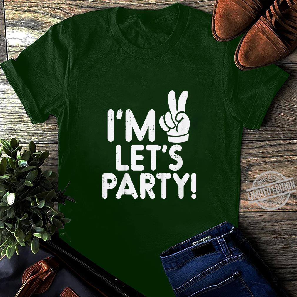 Kinder Im 2 Lets Party Second 2nd Birthday Party Boys Girls Shirt long sleeved