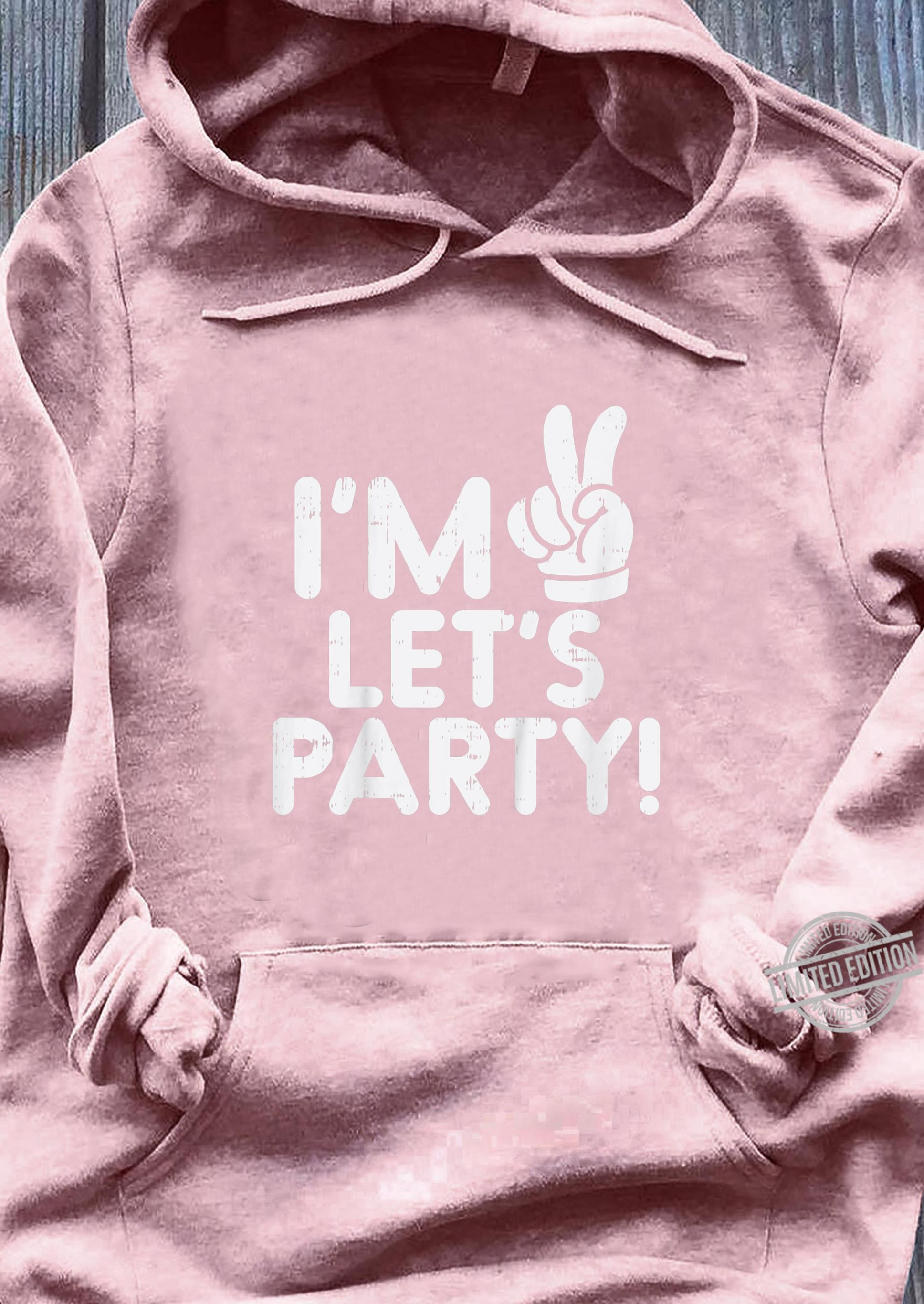 Kinder Im 2 Lets Party Second 2nd Birthday Party Boys Girls Shirt sweater