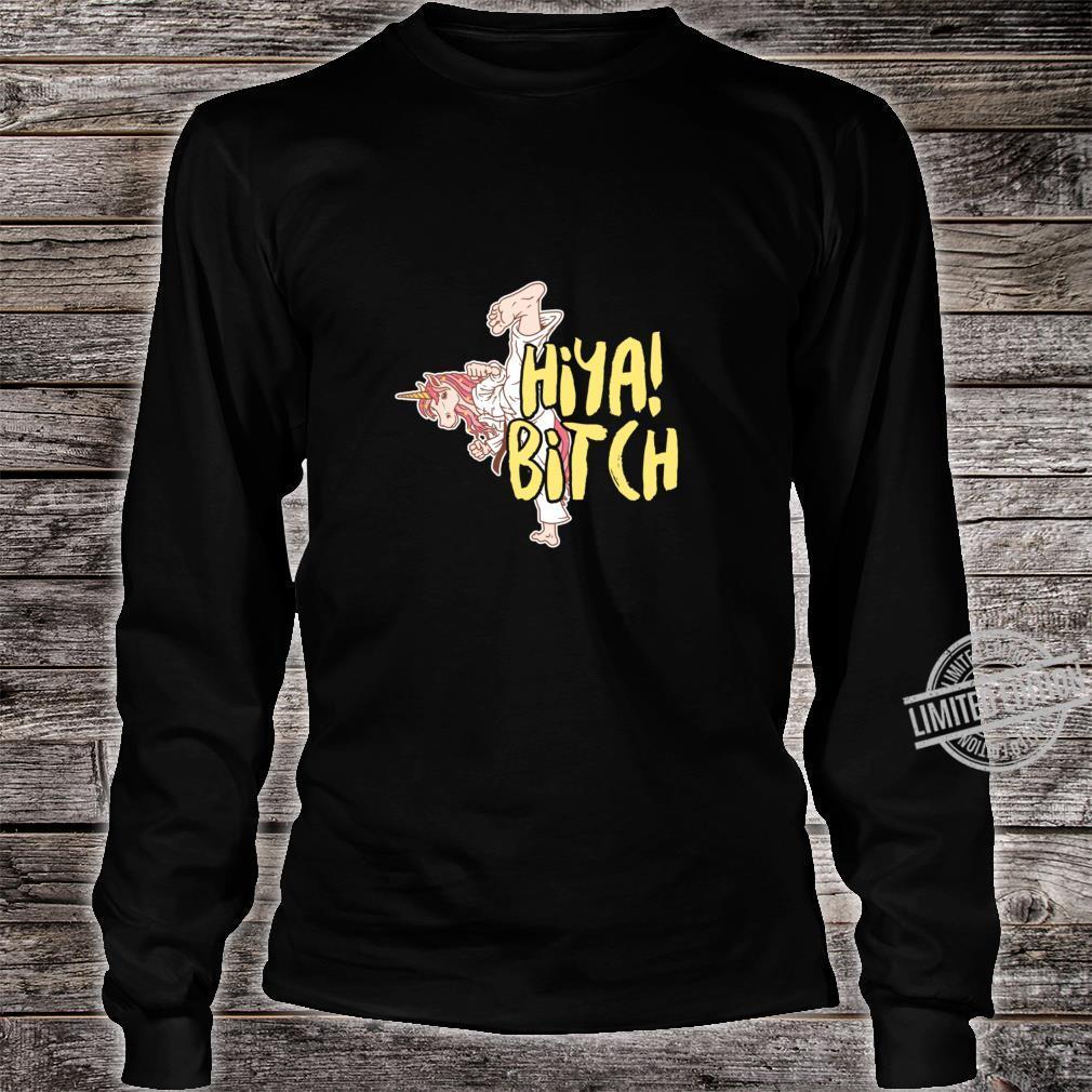 Martial Art Unicorn Taekwondo Jitsu Magical Horse Racerback Shirt long sleeved