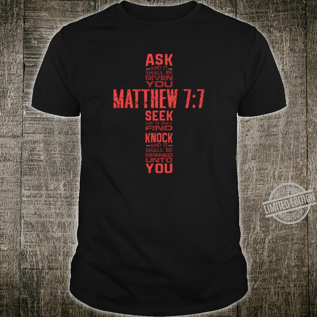 Matthew 77 Bible Verse Biblical And Religious Shirt