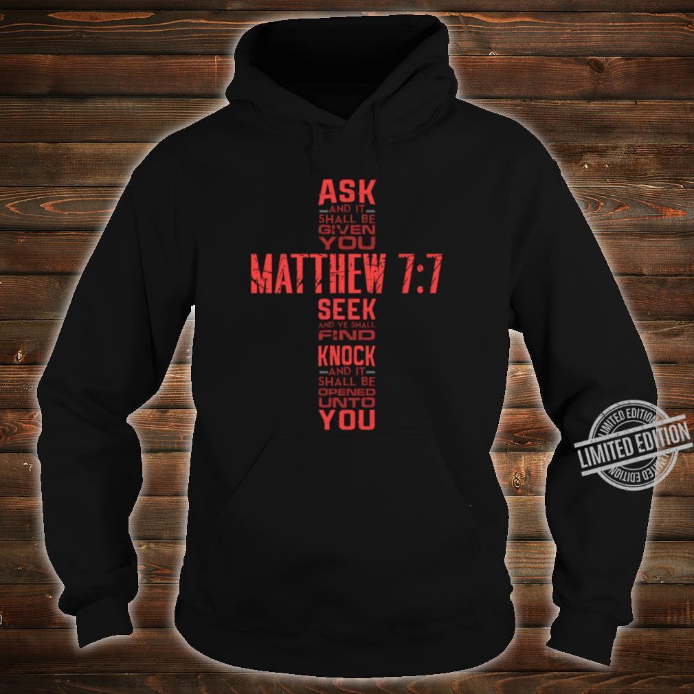 Matthew 77 Bible Verse Biblical And Religious Shirt hoodie