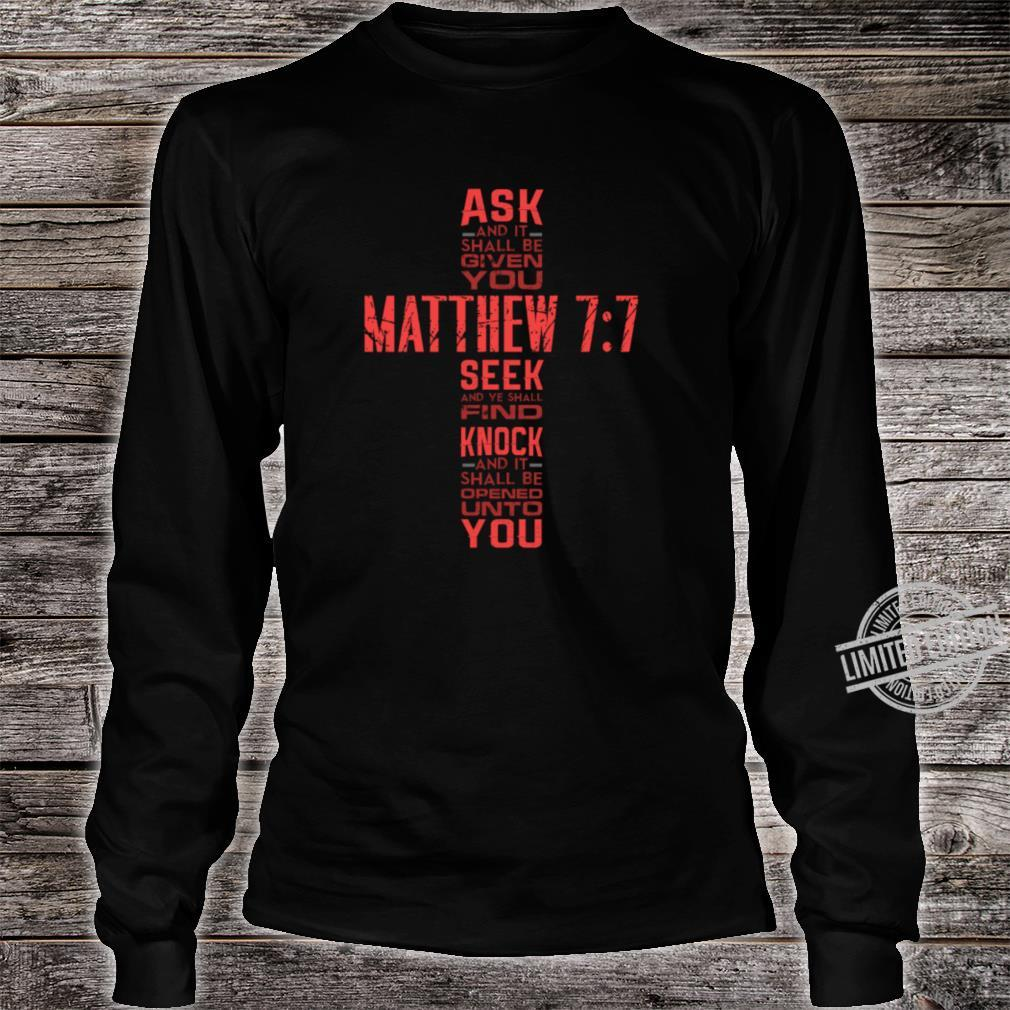 Matthew 77 Bible Verse Biblical And Religious Shirt long sleeved