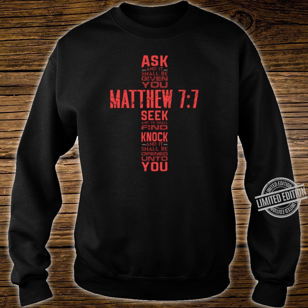 Matthew 77 Bible Verse Biblical And Religious Shirt sweater