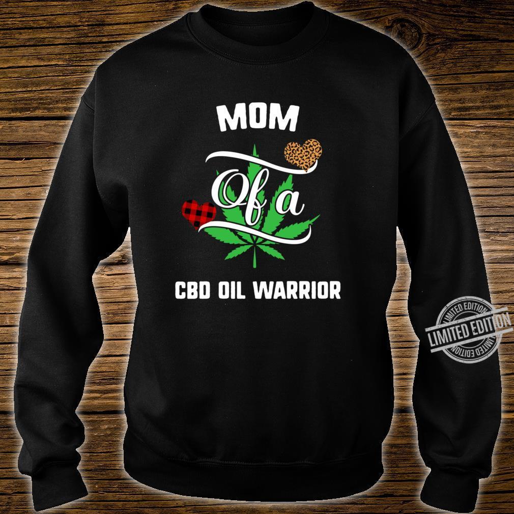 Mom Cbd Oil Warrior Awareness Ribbon Plant Leaf Leopard Buffalo Plaid Family Support Racerback Shirt sweater
