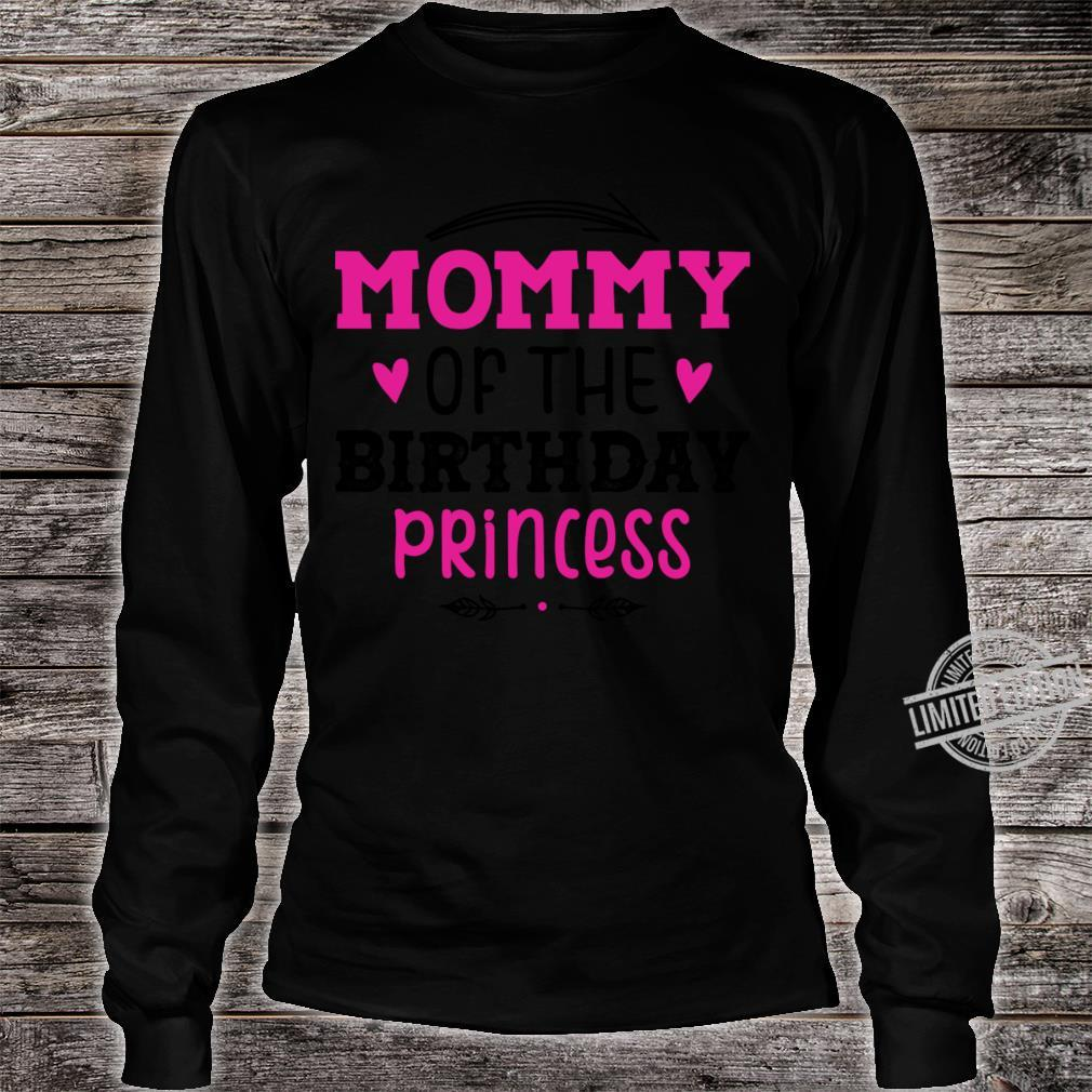 Mommy Of The Birthday Princess Unicorn Shirt long sleeved